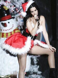 Певица Кэти Перри вышла на сцену в сексапильном виде Санты
