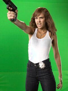 Джессика Альба (Jessica Alba) в промо к фильму «Мачете»