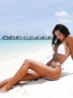 Оксана Самойлова на Мальдивах - Instagram