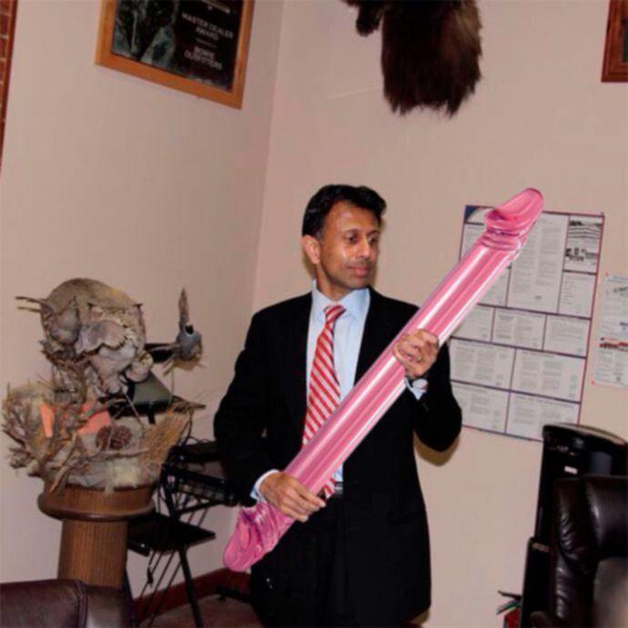 Дилдо вместо оружия в руках республиканцев