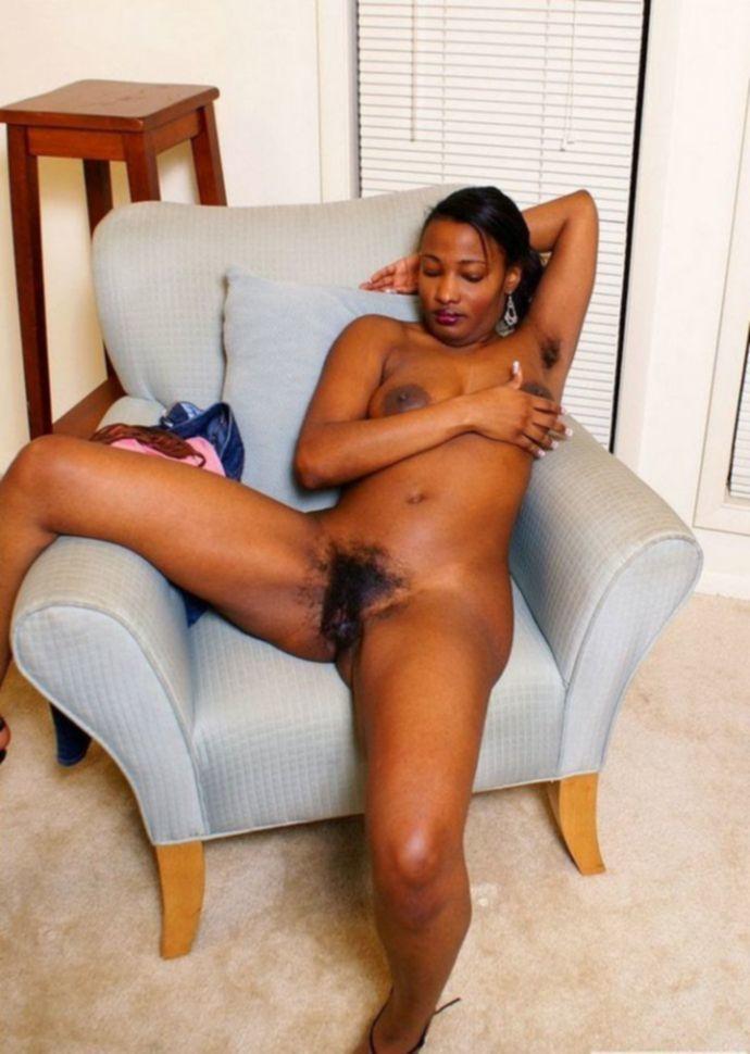 Негритянка с волосатой писькой