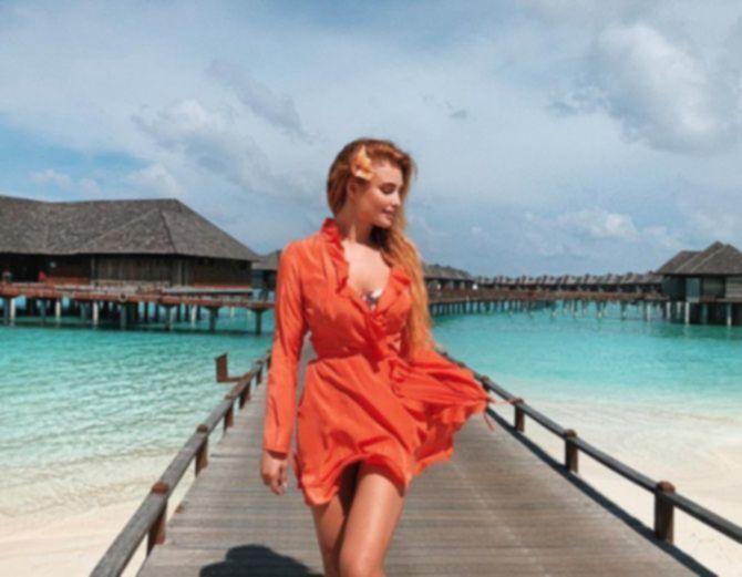 Татьяна Котова на Мальдивах - Instagram