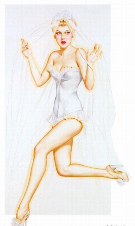 Рисованные винтажные пин-ап девушки