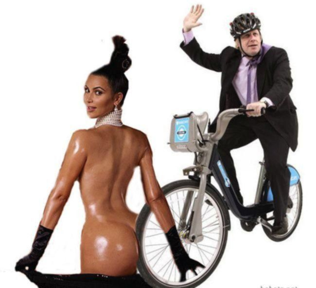 Жопа Ким Кардашян на смешных фото