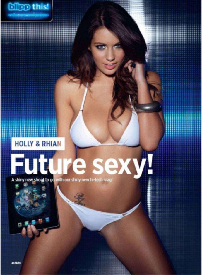 Обнаженная Holly Peers, Rhian Sugden - Nuts January 2012 (1-2012a) UK
