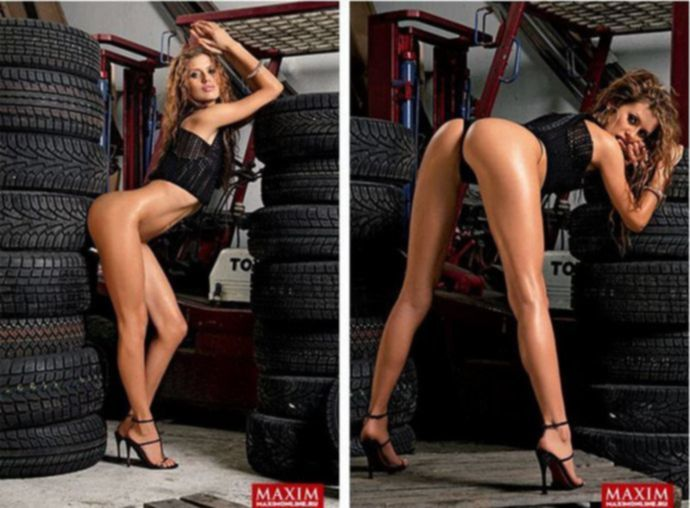 Экс-участница «Дома-2» Виктория Боня в журнале Maxim (эротика)