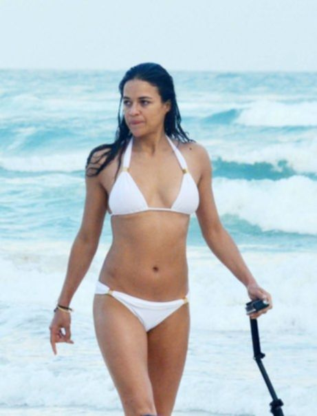 Michelle Rodriguez - Wearing A Bikini In Mexico