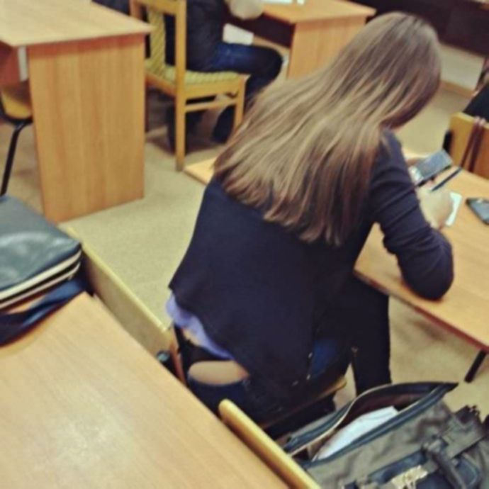 На лекциях в институте