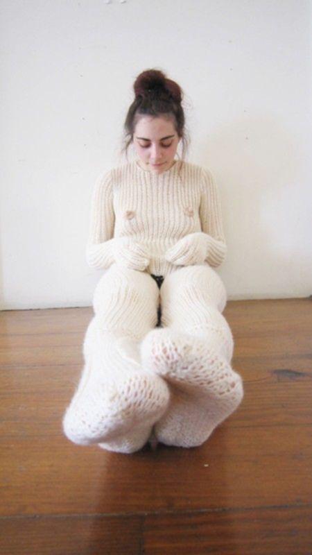 Женский костюм на зиму для сторонниц нудизма
