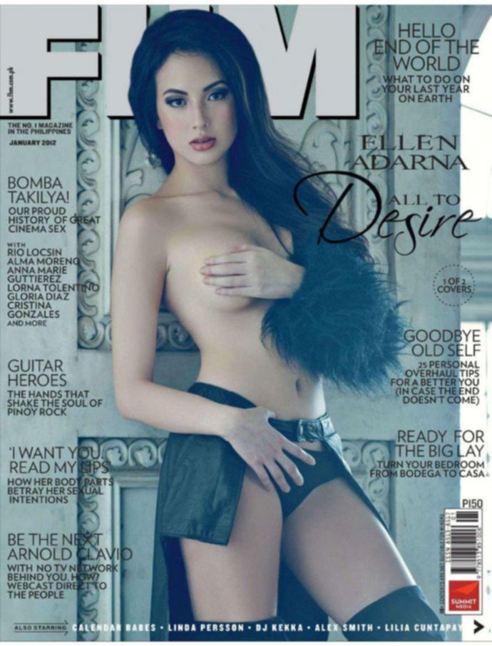 Обнаженная Ellen Adarna - FHM January 2012 (1-2012) Philippines